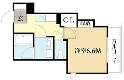仮称)シャーメゾン広野町茶屋裏 2階1Kの間取り
