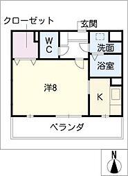 ソレイユ勝川[4階]の間取り