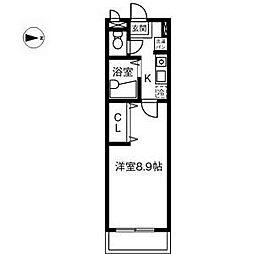 愛知県稲沢市稲葉3丁目の賃貸アパートの間取り