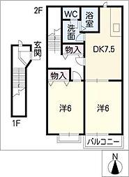 グーテンベルク[2階]の間取り