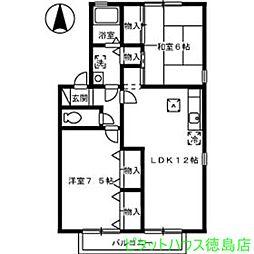 フローラリア田中 B[B201号室]の間取り