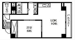 松屋町ラフォーレ高吉[5階]の間取り