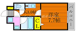 JR吉備線 備前三門駅 徒歩10分の賃貸マンション 3階1Kの間取り