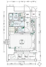 名古屋市営桜通線 高岳駅 徒歩7分の賃貸マンション 10階1Kの間取り