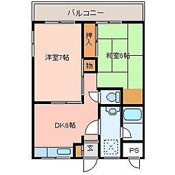 山本マンション[405号室]の間取り