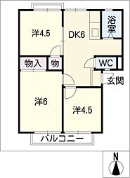 サンライフミノウラ[2階]の間取り