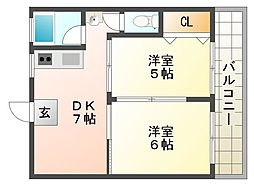 森本マンション[3階]の間取り