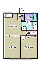 鳥井戸[2階]の間取り