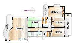 ガーデンハウス赤坂 C棟[2階]の間取り