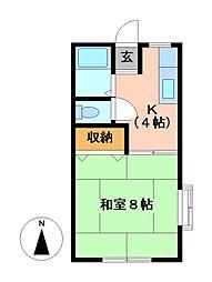 カーサYUアンドAI[2階]の間取り