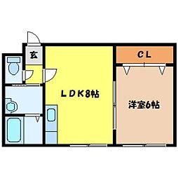 北海道札幌市中央区大通東5丁目の賃貸マンションの間取り