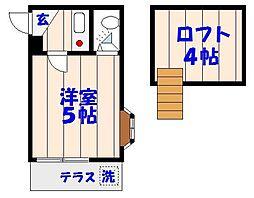 ドールハウス[A103号室]の間取り