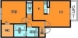 奈良県香芝市畑4丁目の賃貸アパートの間取り