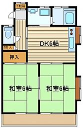 コーポハミー[1階]の間取り