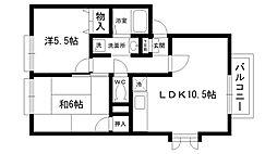 アネシス愛宕山2[2階]の間取り
