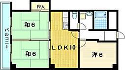 ステーションパレス京都 (ベルヴィ)[1階]の間取り