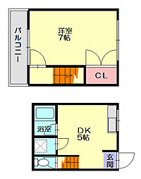 テラスハウス梅尾[1階]の間取り