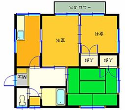 KハウスPARTI[202号室]の間取り