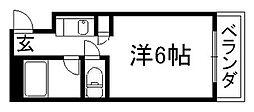 京都府京都市中京区壬生朱雀町の賃貸マンションの間取り