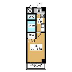 時田ハウス[6階]の間取り