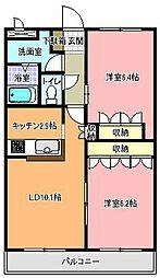 ラ・フィール[2階]の間取り