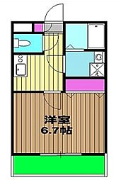 東京都武蔵野市吉祥寺東町1丁目の賃貸マンションの間取り