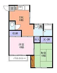 桜井コーポ[2階]の間取り