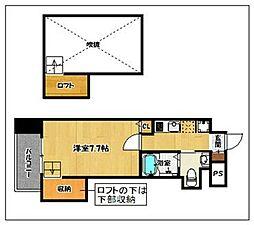 アクタス六本松タワー[503号室]の間取り