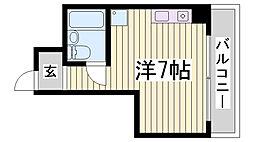 ラ・レジダンス・ド・エリール[6階]の間取り