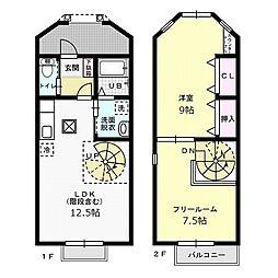 REFINADO D[2階]の間取り