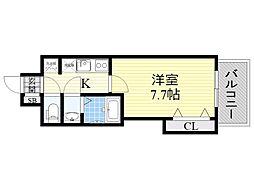 Luxe新大阪EAST1 4階1Kの間取り