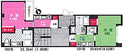 東京メトロ千代田線 湯島駅 徒歩4分の賃貸マンション 1階1Kの間取り