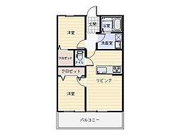 GRANDSTAGE岡山[2階]の間取り