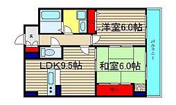 カサパルコ敷津[4階]の間取り
