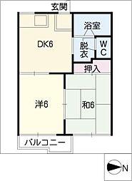 エントピアARAI A棟[1階]の間取り
