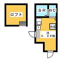 フレシール笹塚A 1階ワンルームの間取り