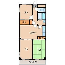 ハイツ太田[7階]の間取り