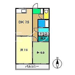 あざみのスクエアII[4階]の間取り