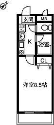 プリミエ−ル八田III[1階]の間取り