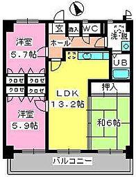 カサグランデ筑紫[403号室]の間取り