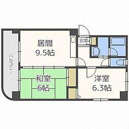 大玄ビル[2階]の間取り