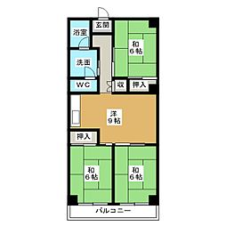 エムビル舞松原[3階]の間取り