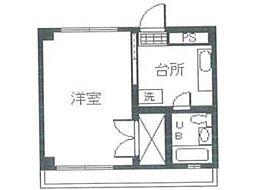 絹ヶ丘ハイツ[3階]の間取り