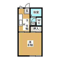 メゾン叶屋パートII[1階]の間取り