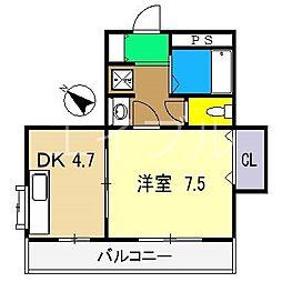 ノワール愛宕山[4階]の間取り