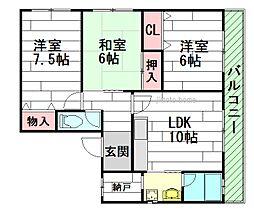コーポSASAKAWA[2階]の間取り