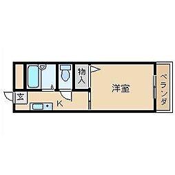 アクセス[1階]の間取り