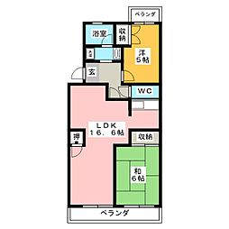 マンションフォーリア[3階]の間取り