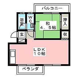 松本コーポ[3階]の間取り