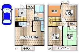 [一戸建] 兵庫県神戸市須磨区高倉台8丁目 の賃貸【/】の間取り
